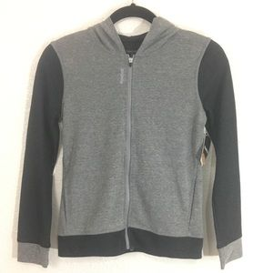 Reebok Girls Jersey Jacket Gray and Black